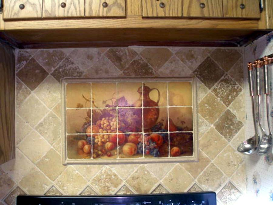 Art deco tamara de lempicka nude mural ceramic backsplash for Art deco tile mural