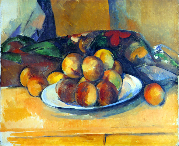 Plate of peaches