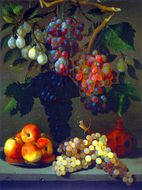 Grapes, Apples, and Plums