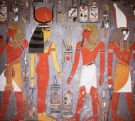 Carved and painted tomb of King Horemheb